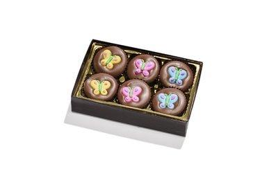 6 Piece Solid Decorated 36% Milk Chocolates