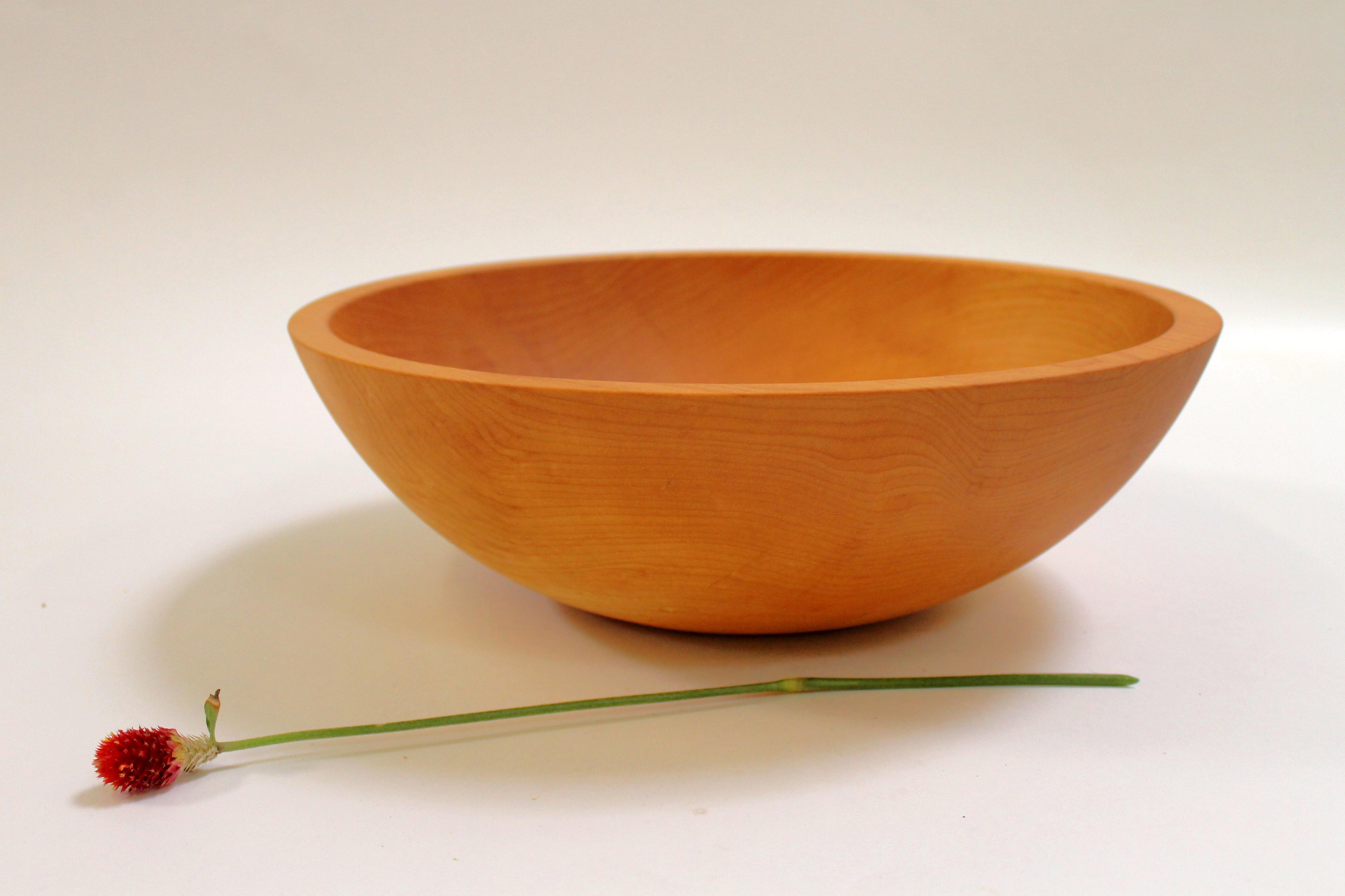 15 inch Hard Maple Bowl - Bee's Oil Finish M115B