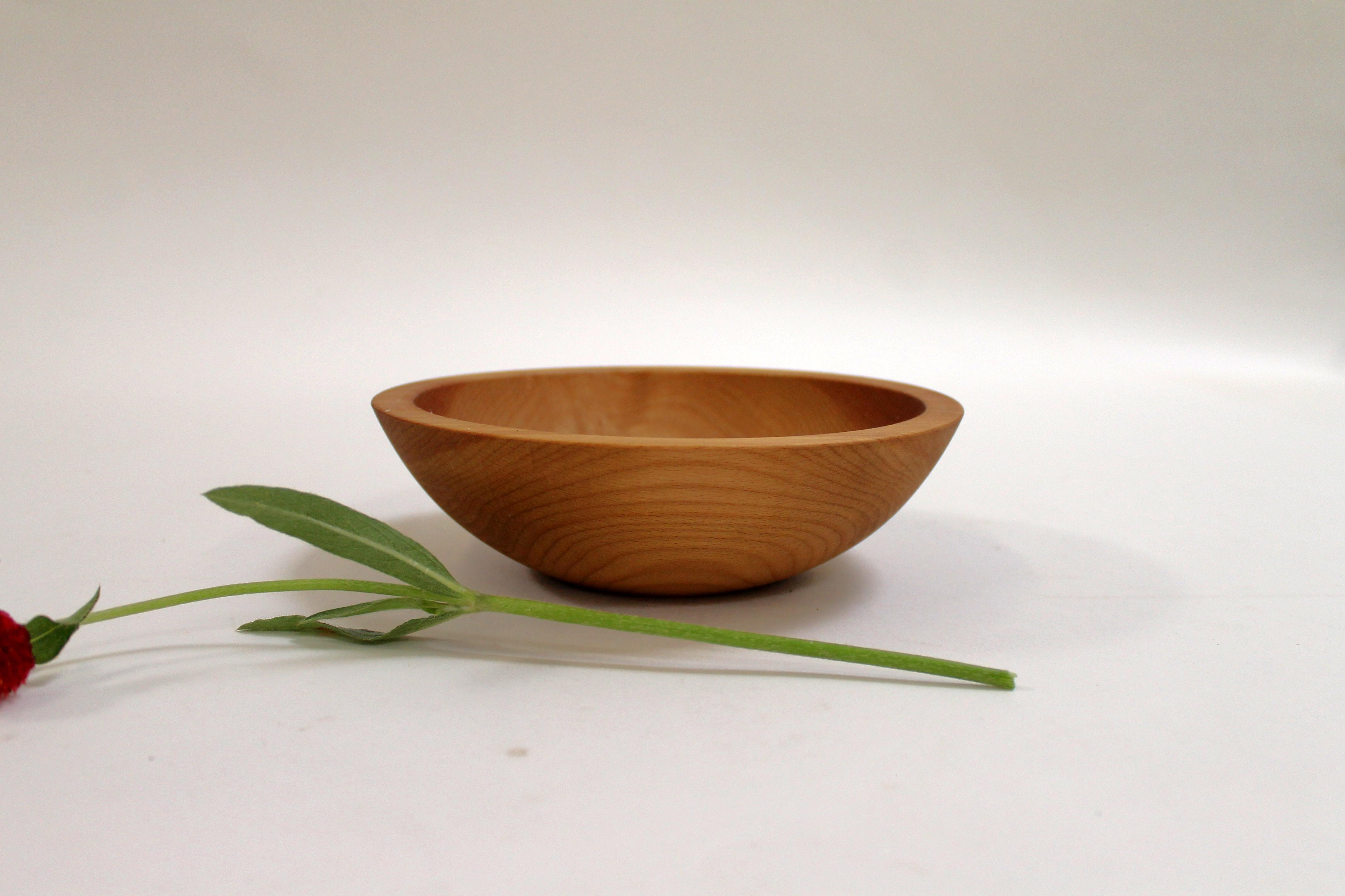7 inch Beech Bowl - Light Walnut & Bee's Oil Finish 107WBLT