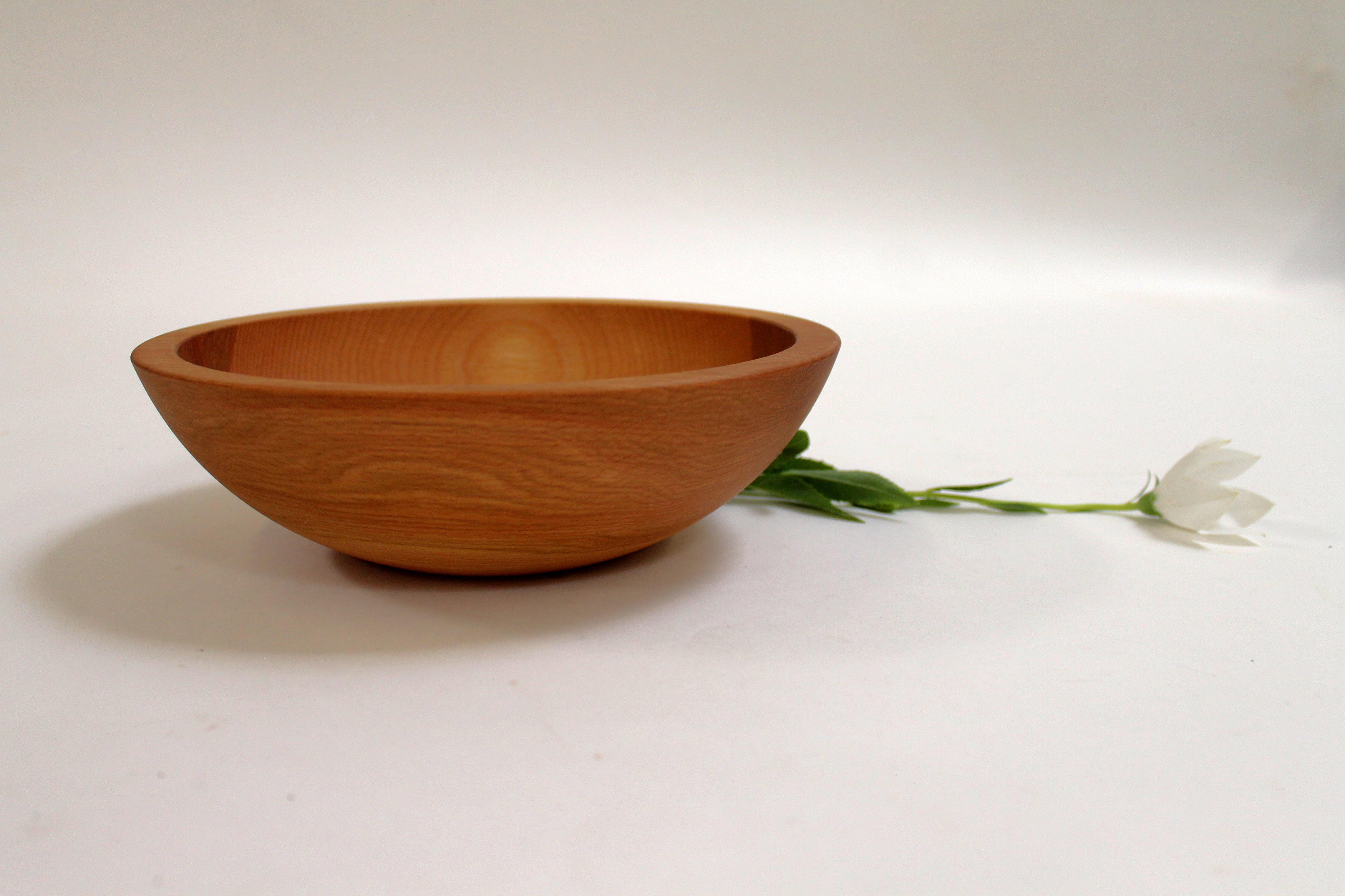 8 inch Beech Bowl - Bee's Oil Finish 108B