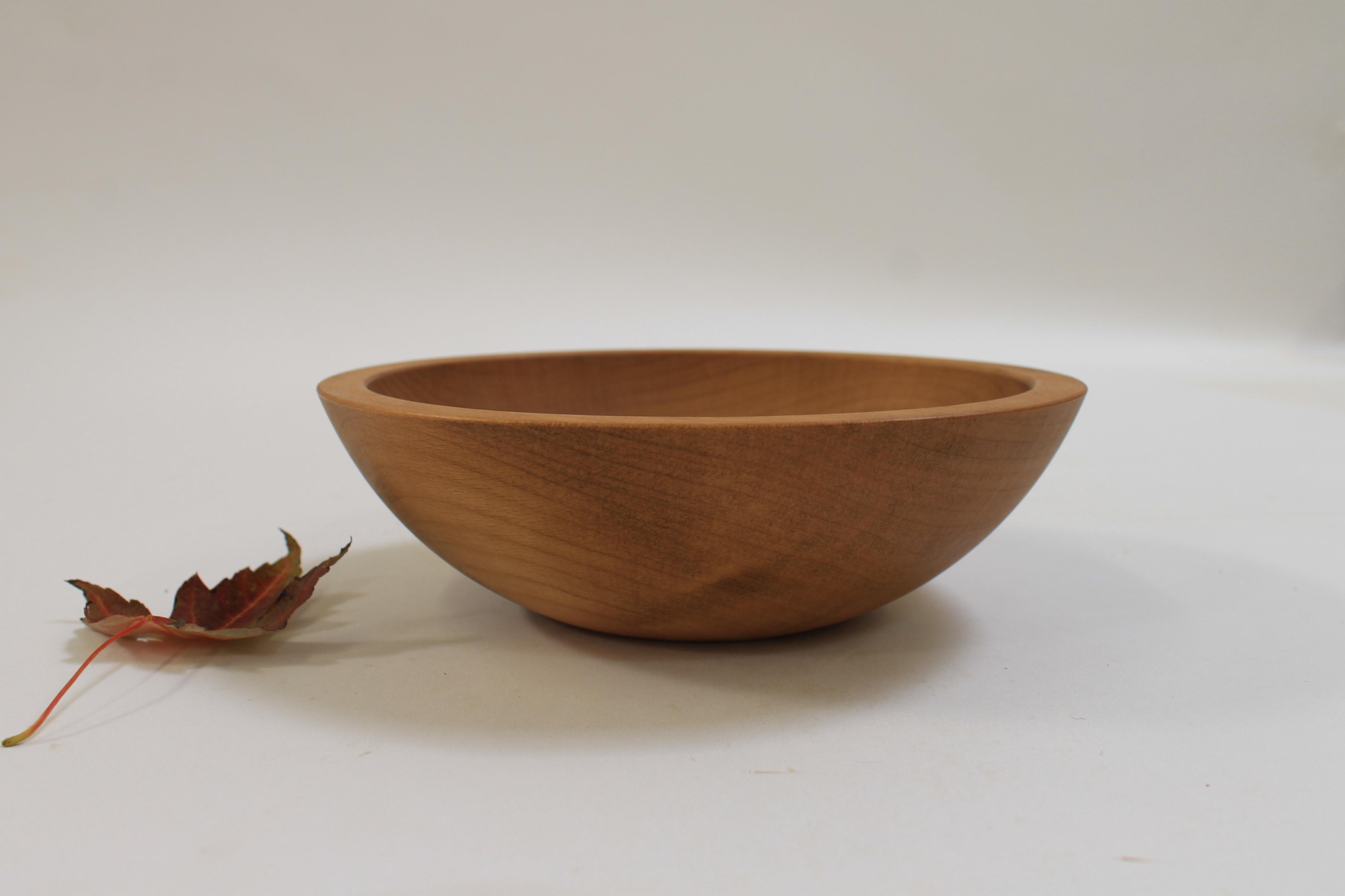 8 inch Beech Bowl - Light Walnut & Bee's Oil Finish 108WBLT