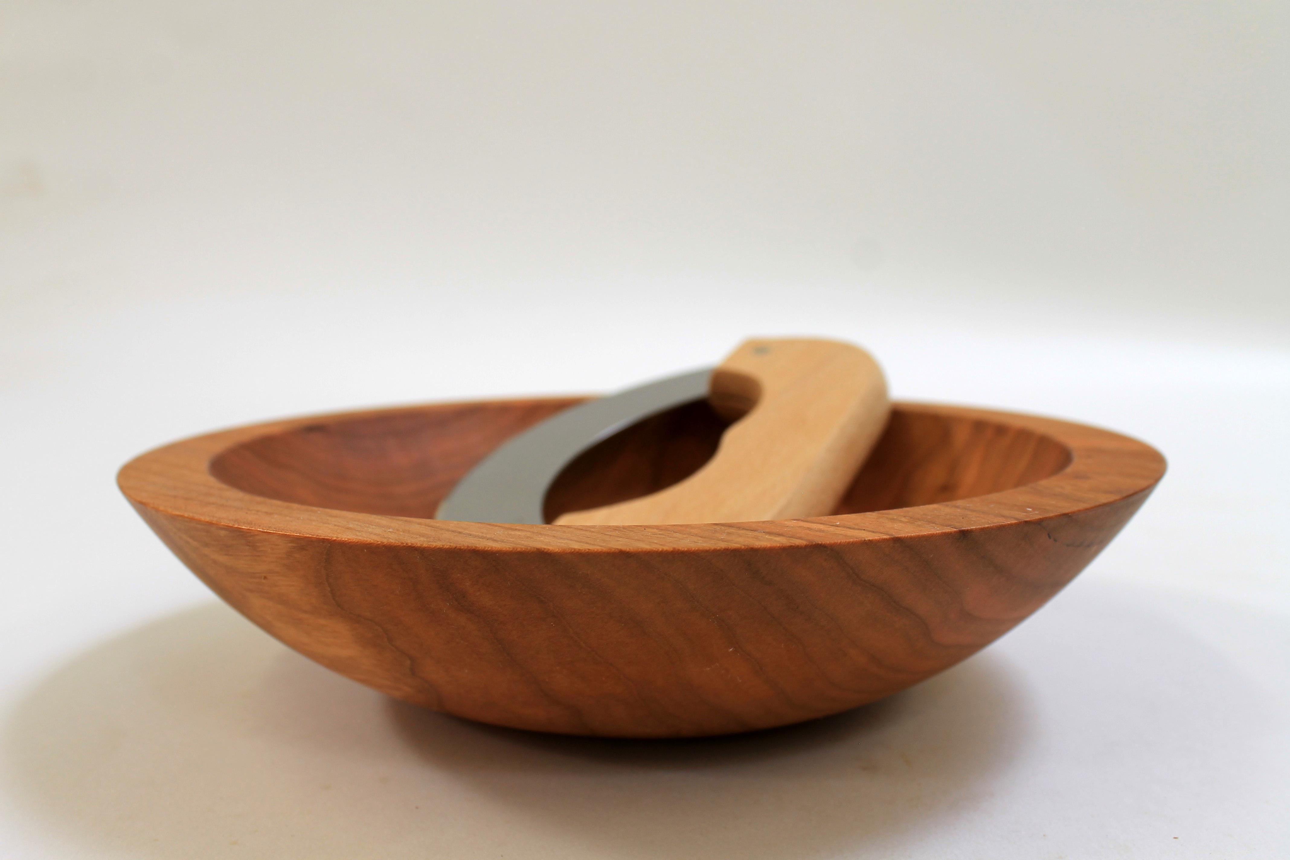 9 inch Cherry Chopping Bowl Set - Bee's Oil Finish C109CB