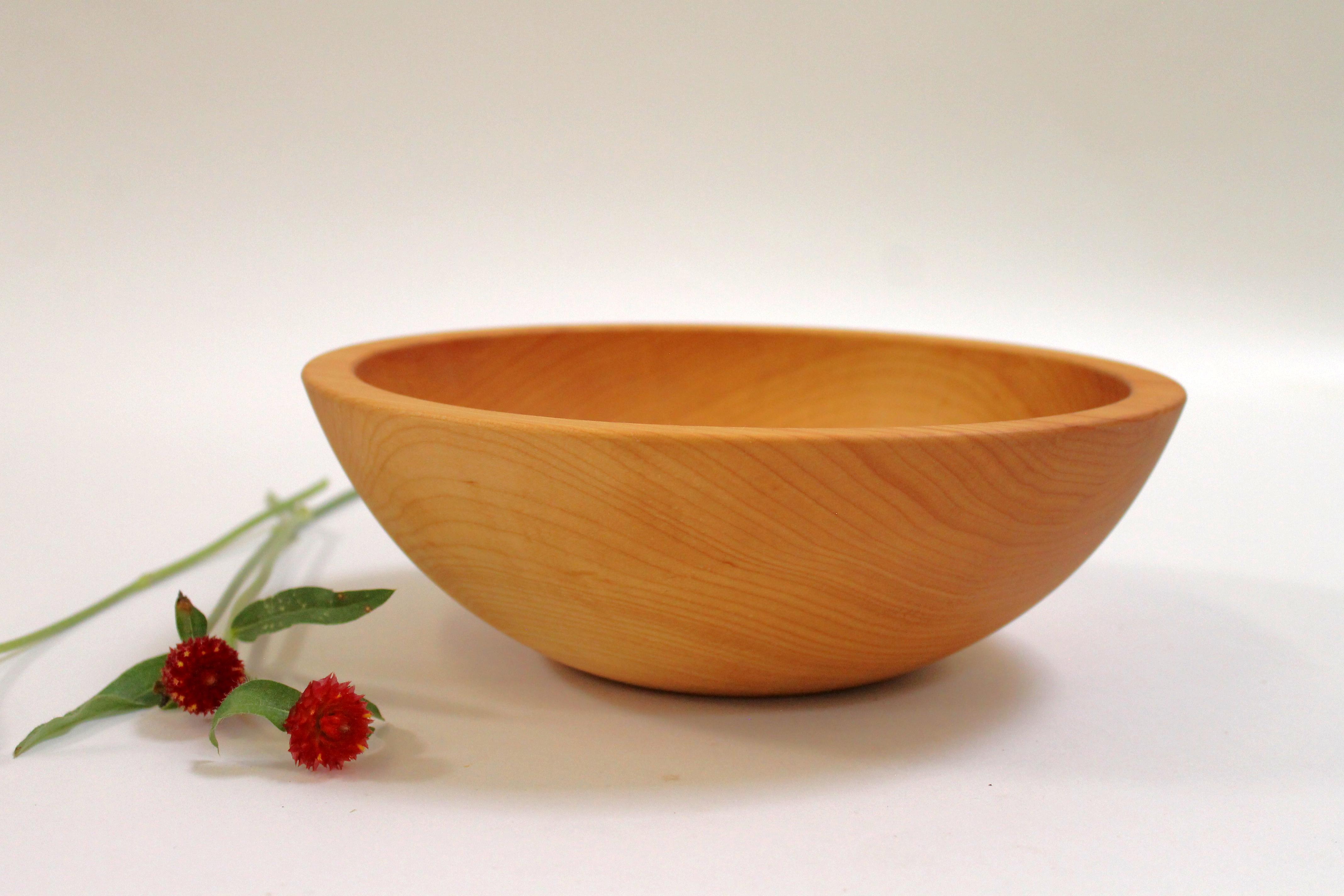 10 inch Hard Maple Bowl - Bee's Oil Finish M110B