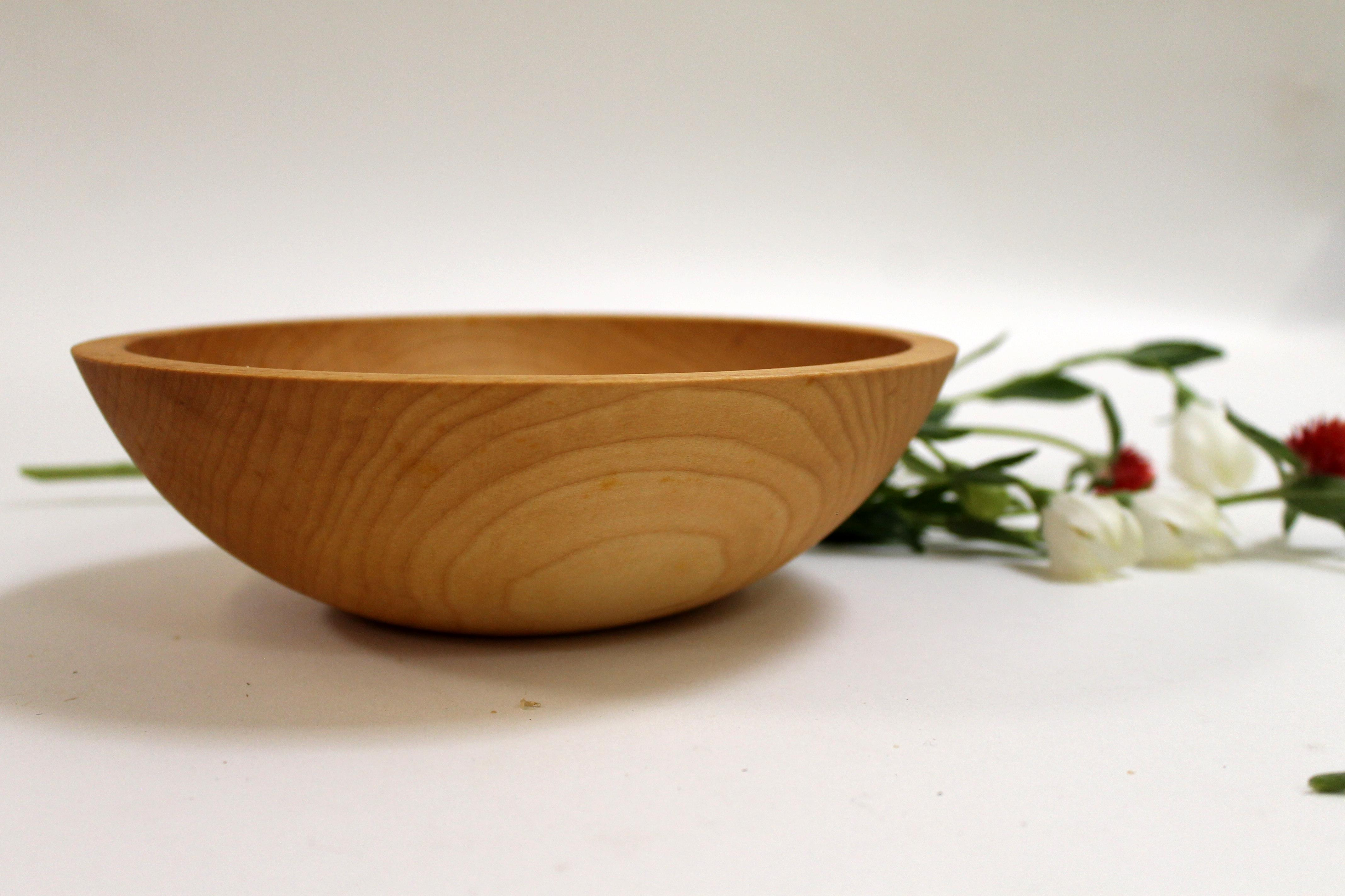 7 inch Maple Bowl - Bee's Oil Finish M107B