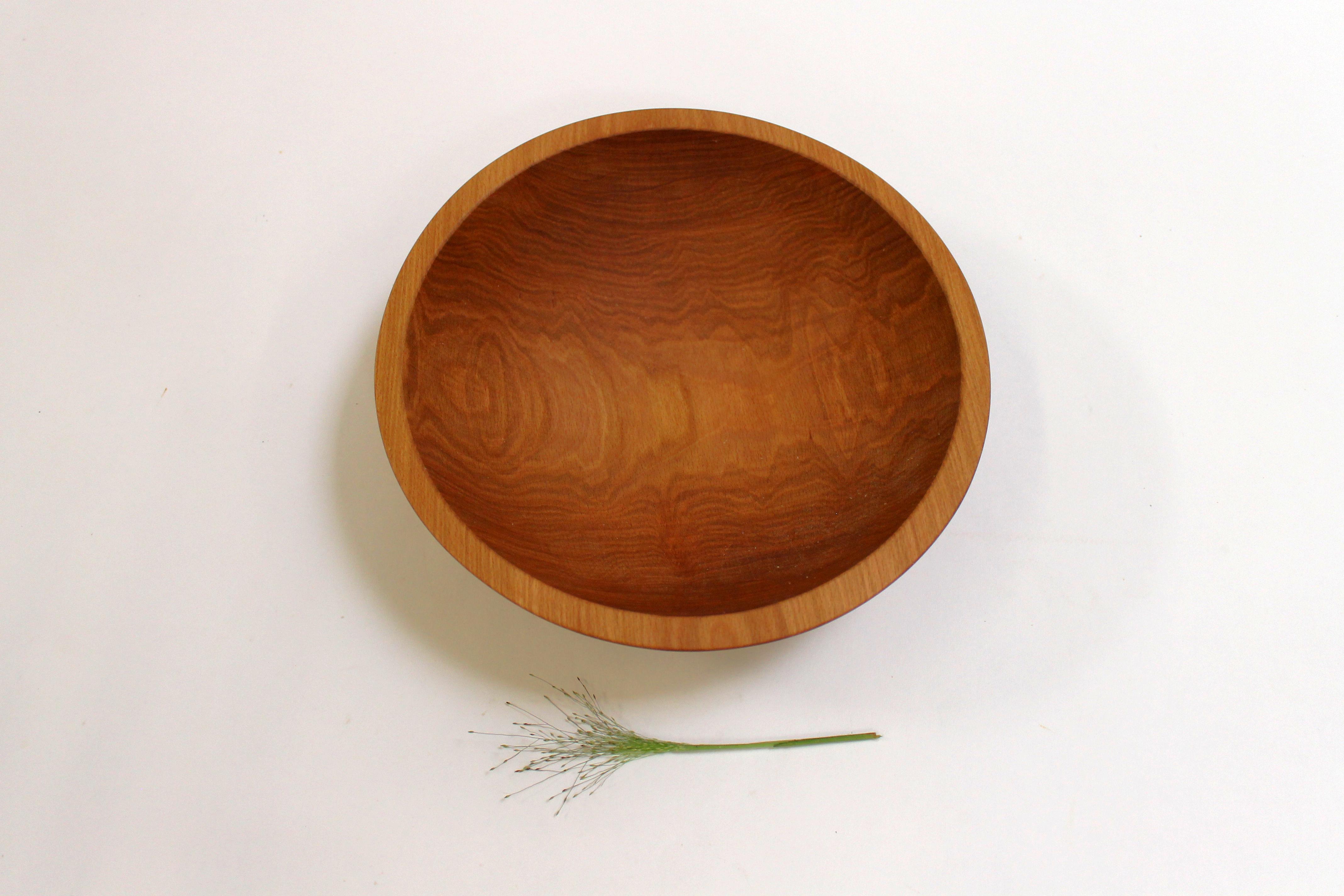 12 inch Beech Bowl - Light Walnut & Bee's Oil Finish 112WBLT
