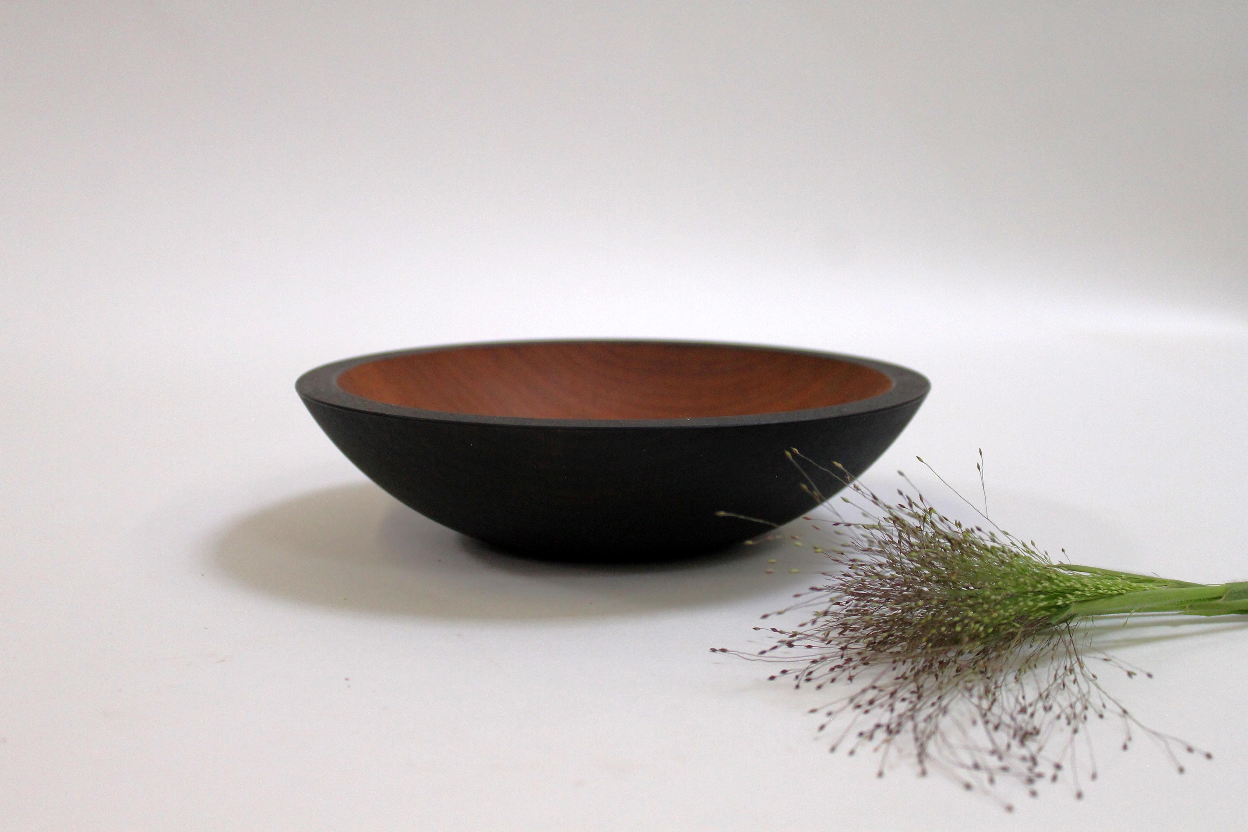9 inch Ebonized Cherry Bowl - Bee's Oil Finish EC109B