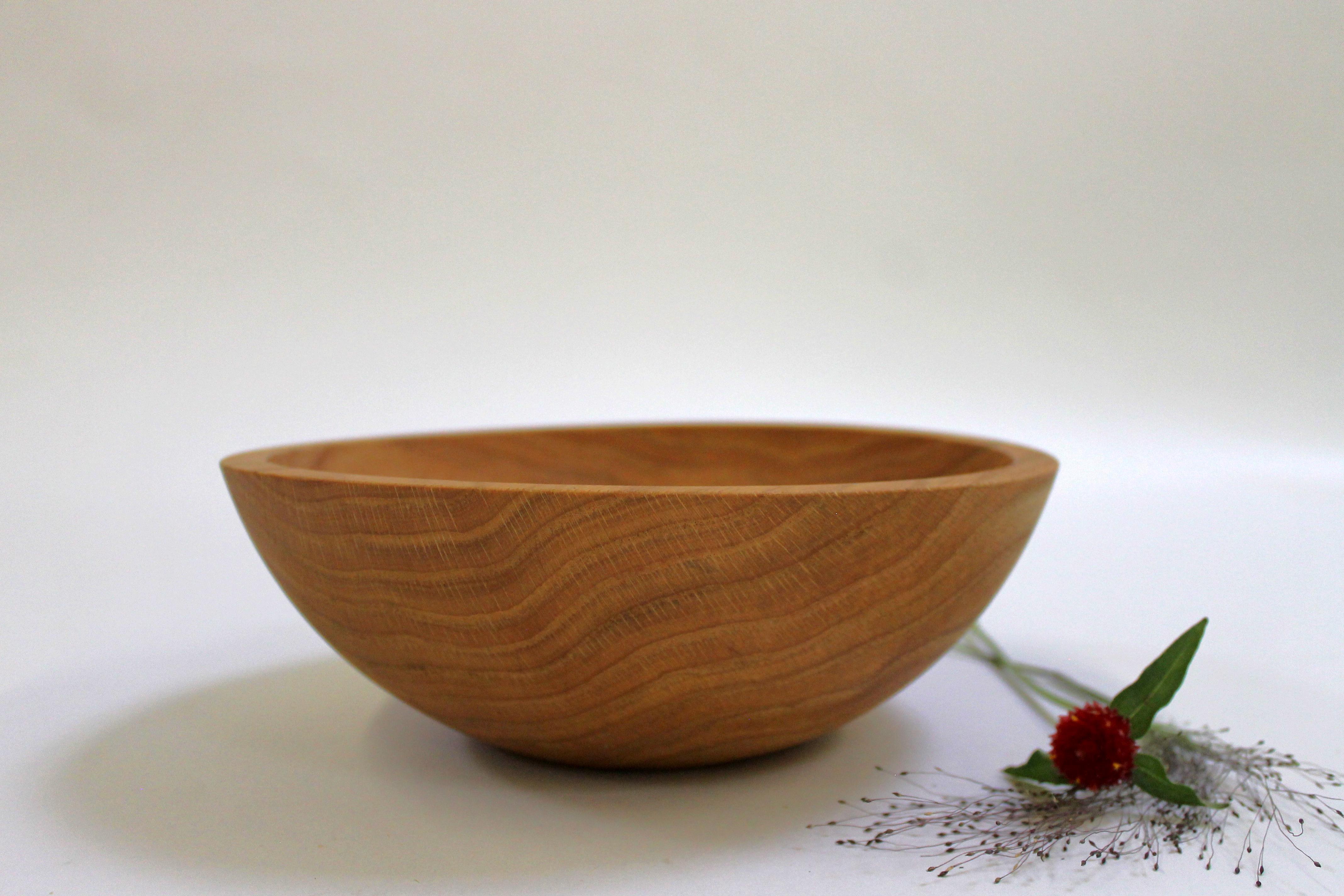 10 inch Red Oak Bowl - Bee's Oil Finish RO110B