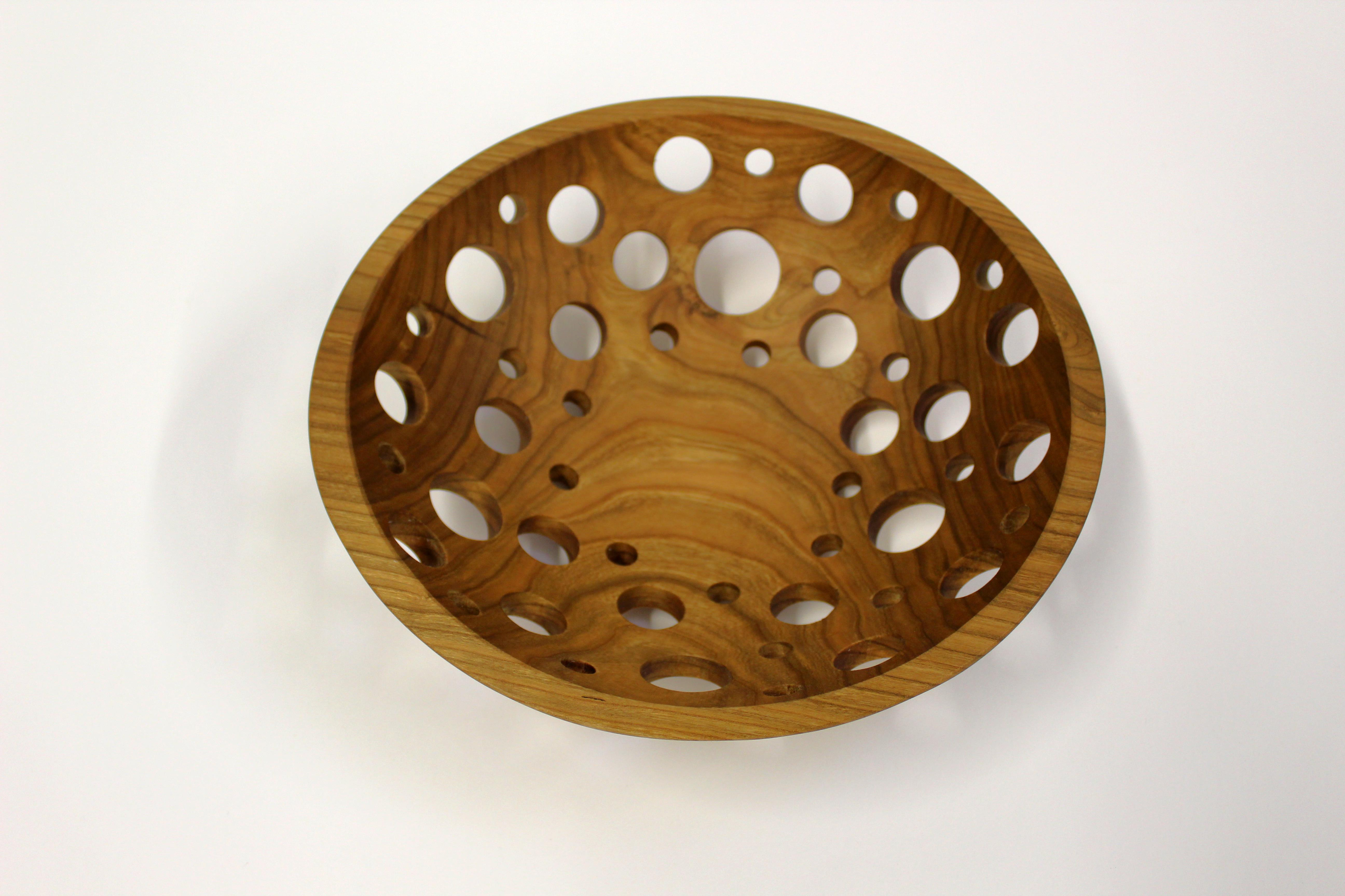12 inch Solid Cherry Fruit Bowl - Featured in 2015 May/June Edition of Midwest Living Magazine C112FB