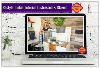 Distressed and Glazed Finishes with Milk Paint and Glazes for Cabinets, & Furniture