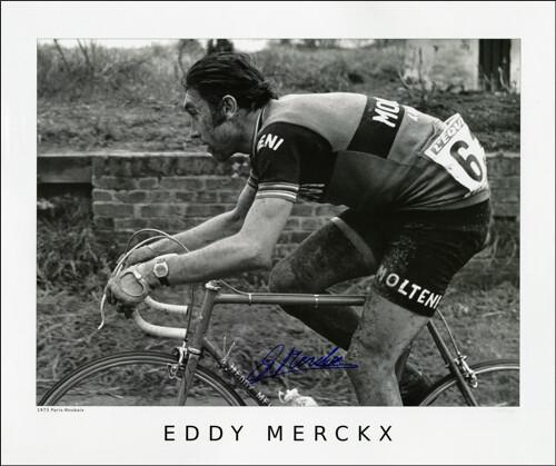 Horton Collection 1973 Merckx Paris-Roubaix Signed Print