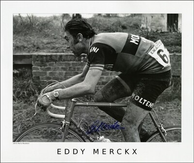 Horton Collection 1973 Merckx Paris-Roubaix Signed Print