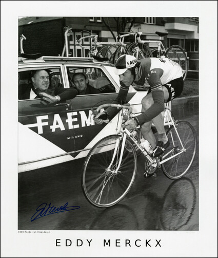 Horton Collection 1969 Merckx Tour of Flanders Signed Print