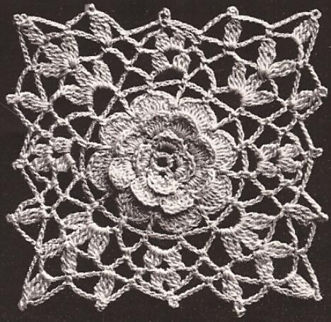 Vintage Irish Crochet Motif Medallion Block Bedspread Cinderella