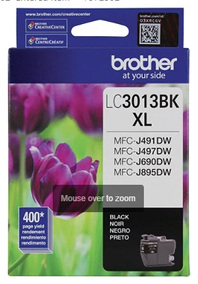 Brother LC3013BKS High-Yield Black Ink Cartridge