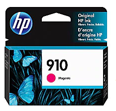 HP 910 Original Ink Cartridge, Magenta 3YL59AN