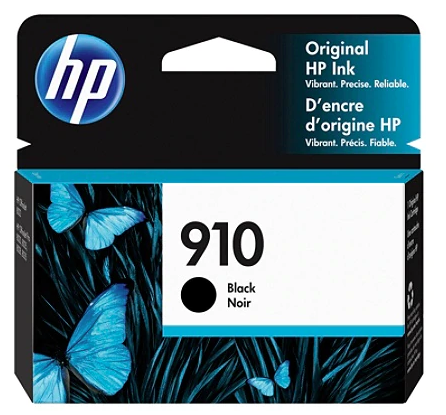 HP 910 Original Ink Cartridge, Black 3YL61AN