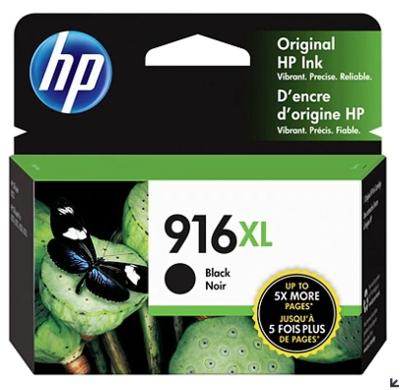 HP 916XL Extra High Yield Original Ink Cartridge, Black