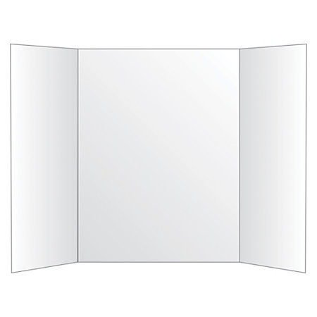 """Office Depot Brand 72% Recycled Tri-Fold Corrugate Display Board, 36"""" x 48"""", White"""