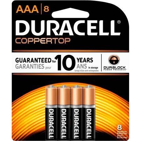 Duracell Coppertop Alkaline AAA Batteries, Pack Of 8