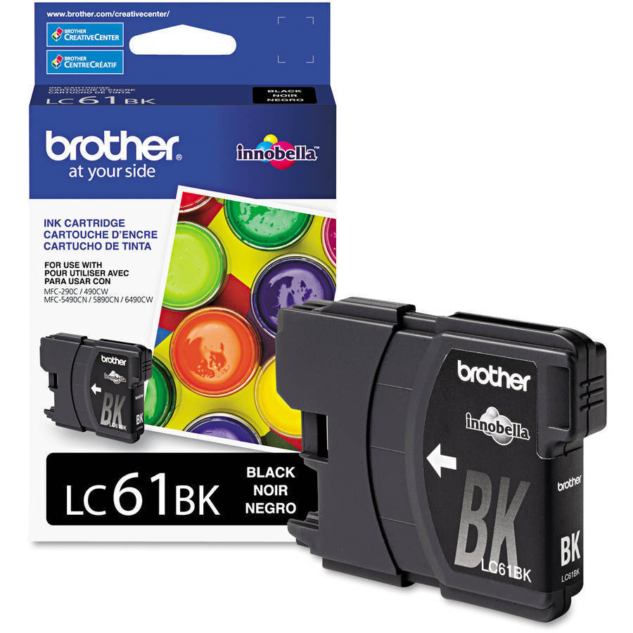 Brother® LC61BK, Black Ink Cartridge