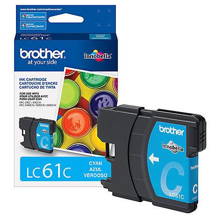 Brother® LC61C Cyan Ink Cartridge