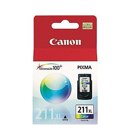 Canon CL-211XL Tricolor Ink Cartridge (2975B001)