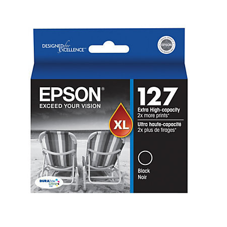 Epson® 127, (T127120-S) DuraBrite® Ultra Extra-High-Capacity Black Ink Cartridge