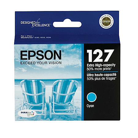 Epson® 127, (T127220-S) DuraBrite® Ultra Cyan Ink Cartridge