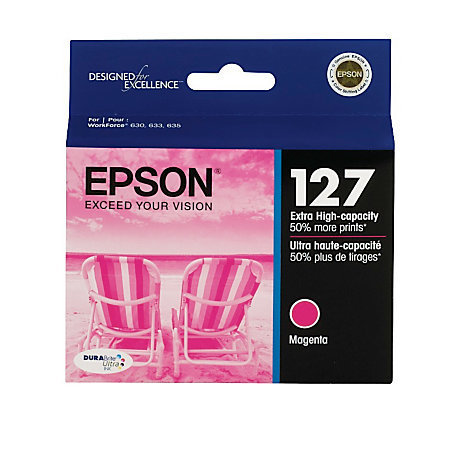 Epson® 127, (T127320-S) DuraBrite® Ultra Magenta Ink Cartridge
