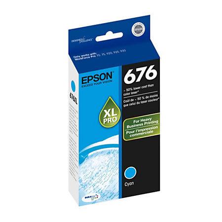 Epson® 676, (T676XL220-S) DuraBrite® Ultra Cyan Ink Cartridge
