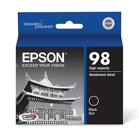 Epson 98 (T098120-S) High - Capacity, Black Ink Cartridge