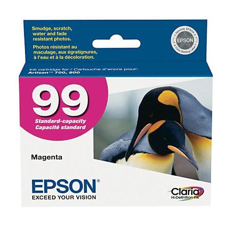 Epson® 99, (T099320-S) Claria® Hi-Definition Magenta Ink Cartridge