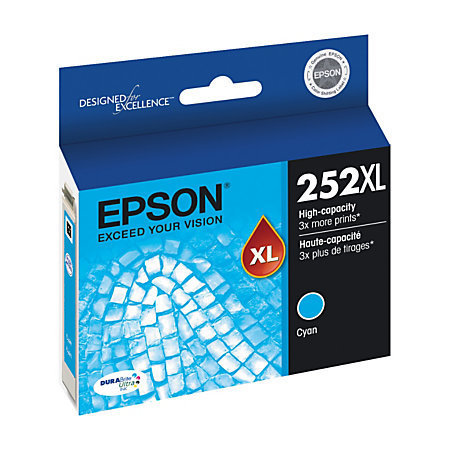 Epson DuraBrite Ultra T252XL220-S High-Yield Cyan Ink Cartridge