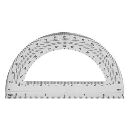 "Office Depot® Brand Semicircular 6"" Protractor, Clear"