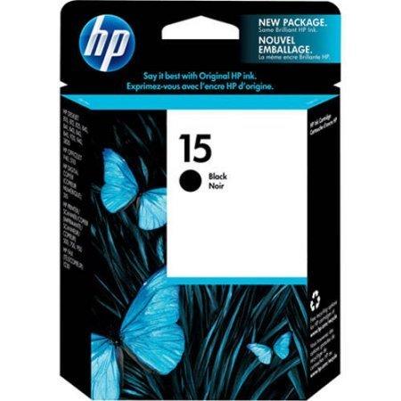HP 15, Black Original Ink Cartridge (C6615DN)