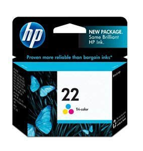 HP 22, Tricolor Original Ink Cartridge (C9352AN)