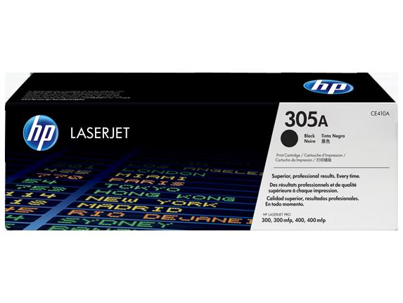 HP 305A Black Original Toner Cartridge (CE410A)