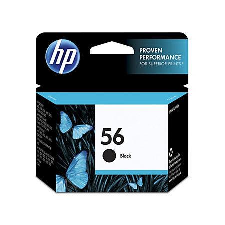 HP 56, Black Original Ink Cartridge (C6656AN)