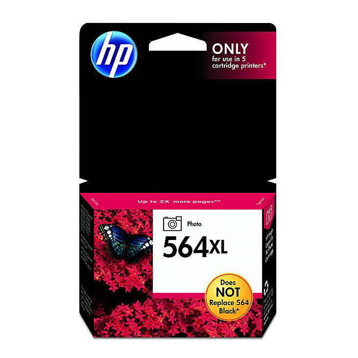 HP 564XL, Photo Original Ink Cartridge (CB322WN)