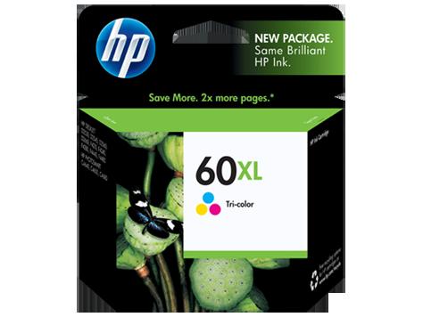 HP 60XL, Tricolor Original Ink Cartridge (CC644WN)