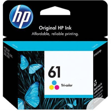 HP 61, Tricolor Original Ink Cartridge (CH562WN)