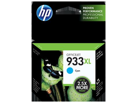 HP 933XL, Cyan Original Ink Cartridge (CN054AN)