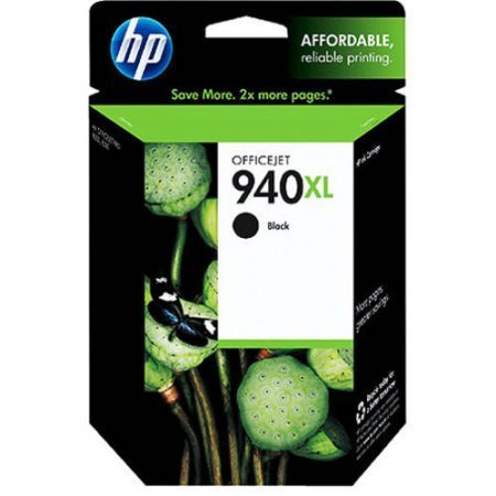 HP 940XL, Black Original Ink Cartridge (C4906AN)