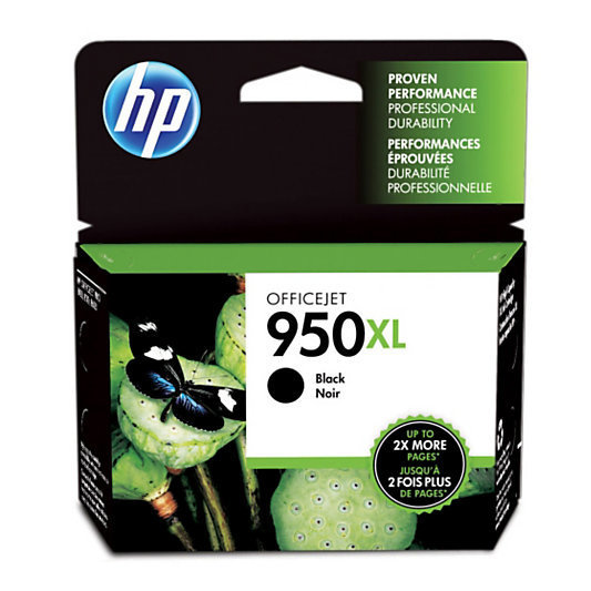 HP 950XL, Black Original Ink Cartridge (CN045AN)
