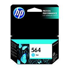 HP 564, Cyan Original Ink Cartridge (CB318WN)
