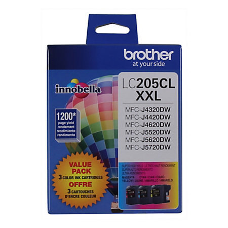Brother® Extra-High-Yield Ink Cartridge, Cyan/Magenta/Yellow, Pack Of 3, LC2053PKS