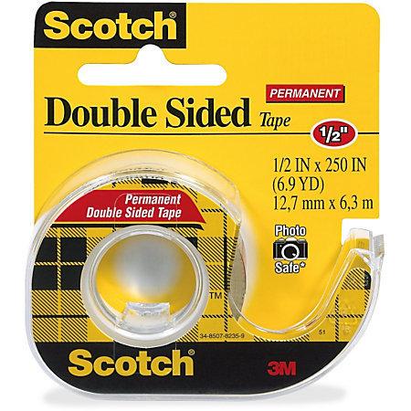 Scotch Double Sided Tape - 0.50 Width x 20.83 ft Length