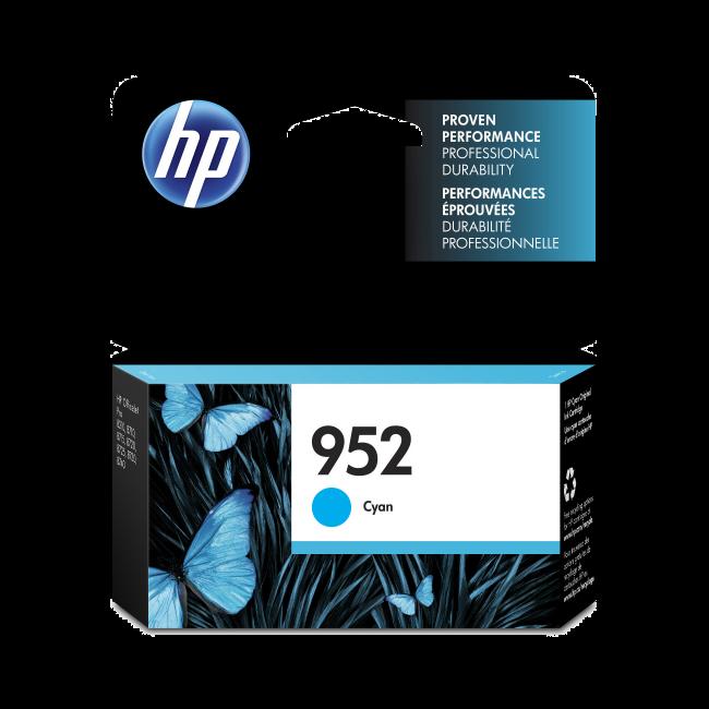 HP 952 Cyan Ink Cartridge (L0S49AN#140)