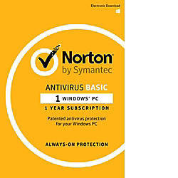 Norton™ AntiVirus 2017, 1 User, 12-Month Subscription, Download Version
