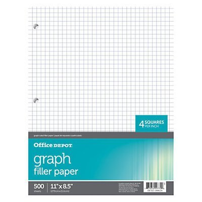 Office Depot Brand Quadrille-Ruled Notebook Filler Paper, 8 1/2